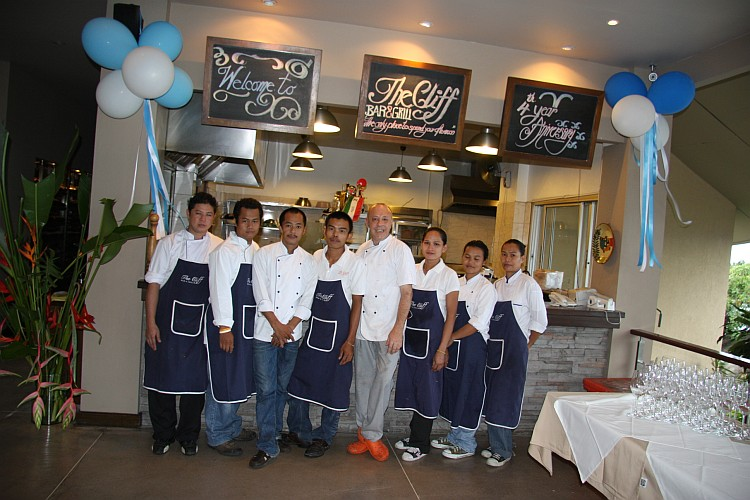 The Cliff kitchen team Koh Samui