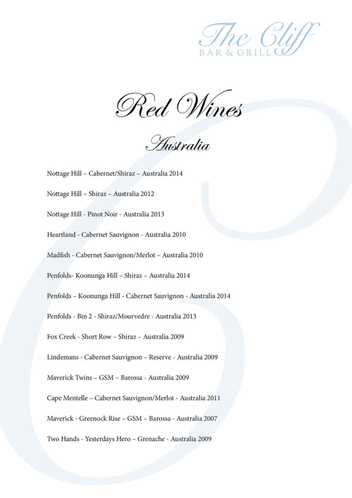 Samuis best wine list