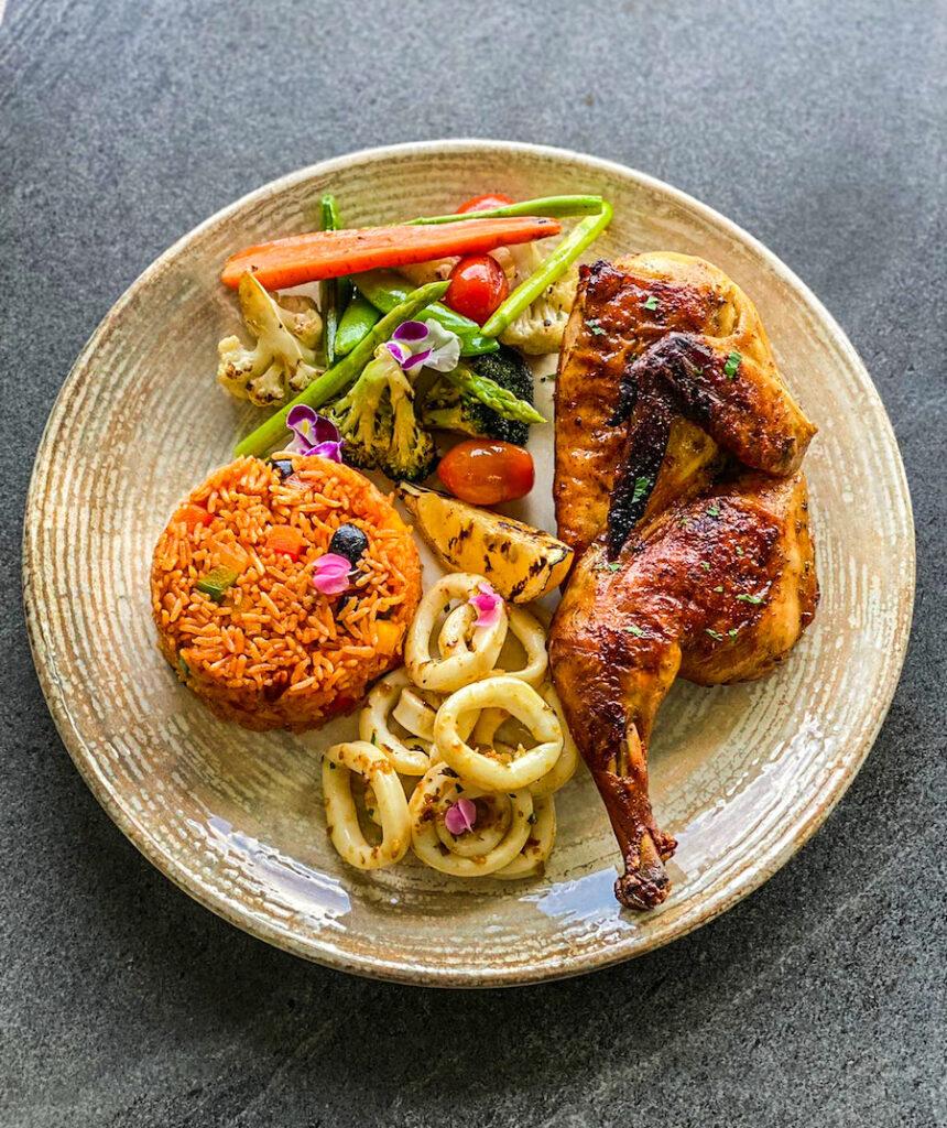 Chicken and Calamari Combo Koh Samui